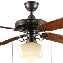 Heron Ceiling Fan with Opal Ogee Shade