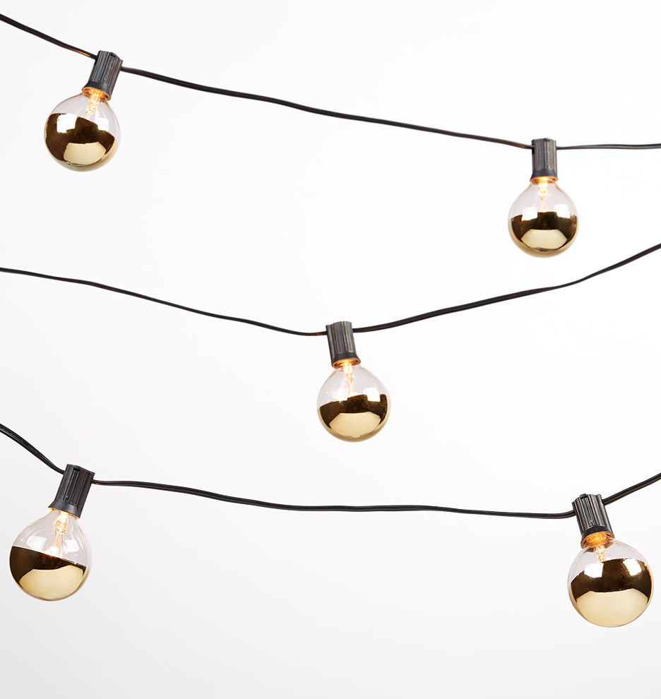 A String Of Holiday Lights Has 73 Light Bulbs In Series : 20 Gold Bulb String Lights Rejuvenation