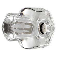 1-1/4in. Hex Glass Knob