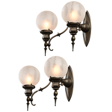 Pair of 2-Arm Beaux Arts Wall Sconces c1910