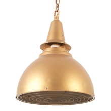 Large Bronze-Toned Commercial Dome Pendant c1950