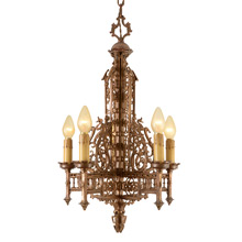 Intricate 5-Light Chandelier by Moe Brigdes