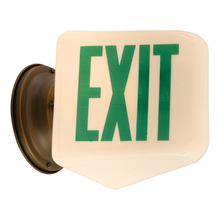 Classic White and Green Exit Light c1935
