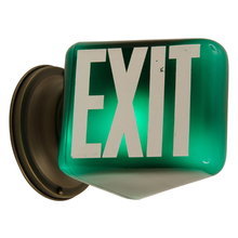 Classic Green and White Exit Light c1935