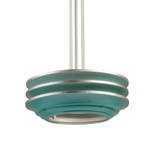 Streamlined 3-Tier Pendant in Teal c1940